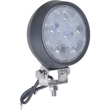 """J&N Work Light, 12/24V, LED, 1,350 Lumens, White, PAR36 (4.5""""), Spot, Black Rubber Housing"""