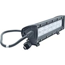 """J&N Bar Light, 12/24V, LED, 2,520 Lumens, White, 10.5"""", Flood, Black Housing"""