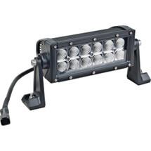 """J&N Bar Light, 12/24V, LED, 1600 Lumens, White, 7.5"""", Flood, Black Housing"""
