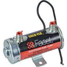 """Cylindrical Solid State Fuel Pump 12V 6-8PSI 24"""" Min Dry Lift 45 GPH FPF-480543N"""