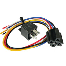New Power Relay- Bosch Style 12 Volt w Pigtail HD 30 Amp Continuous Duty 5-Wire