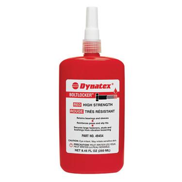 49454 Dynatex Red High Strength Thread Locker; 250 ML Bottle for Universal