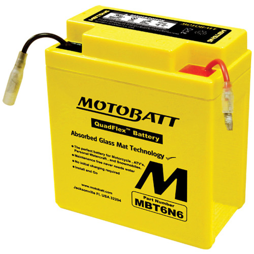 Motobatt MBT6N6 6Ah Battery