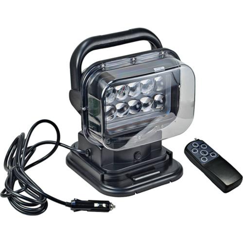 """J&N Work Light, 12/24V, LED, 3,750 Lumens, White, 7.3"""", Spot, Black Housing"""