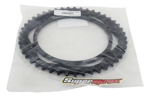 Supersprox Rear Steel Sprocket Black 45T For Triumph Daytona 955 i 99-06