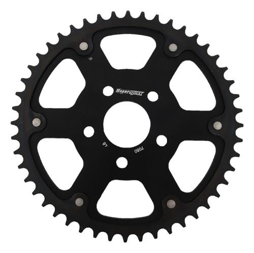 Supersprox - Steel & Aluminum Black Stealth sprocket, 48T, Chain Size 530, RST-7080-48-BLK