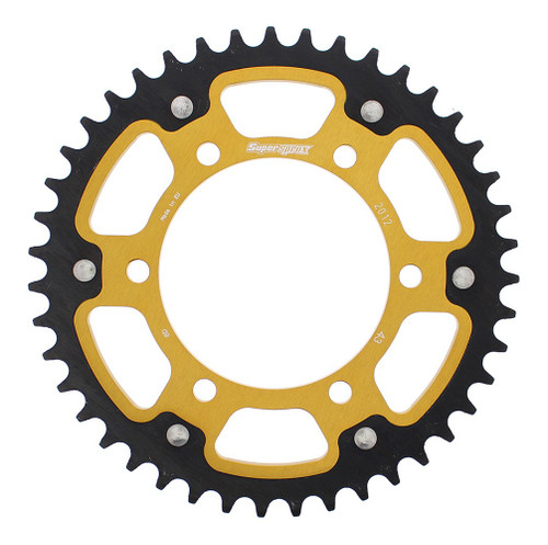 Supersprox Stealth Sprocket Gold 43T-RST-2012-43-GLD for Triumph Bonneville T120