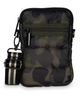 CASEY BAG IN SARG-Olive Green Camo puffer. Matching stripe strap.