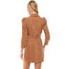 CORDUROY SNAP BUTTON DRESS