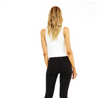FITTED HIGH NECK CROP TANK