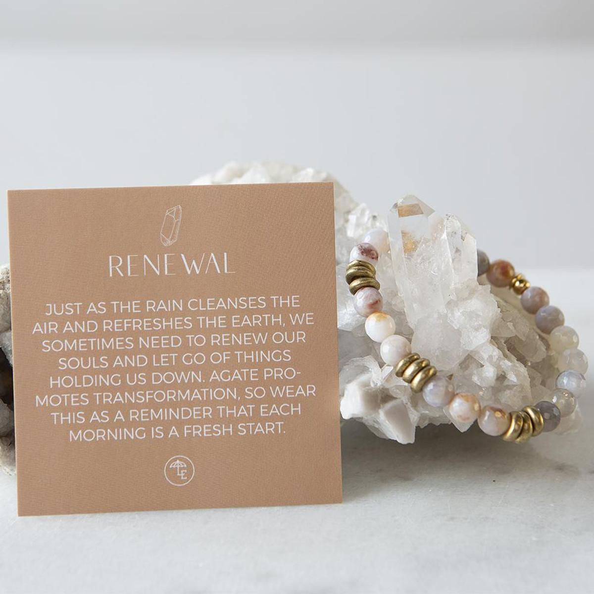 Rainbow Agate Gemstone Stretch Bracelets   8mm