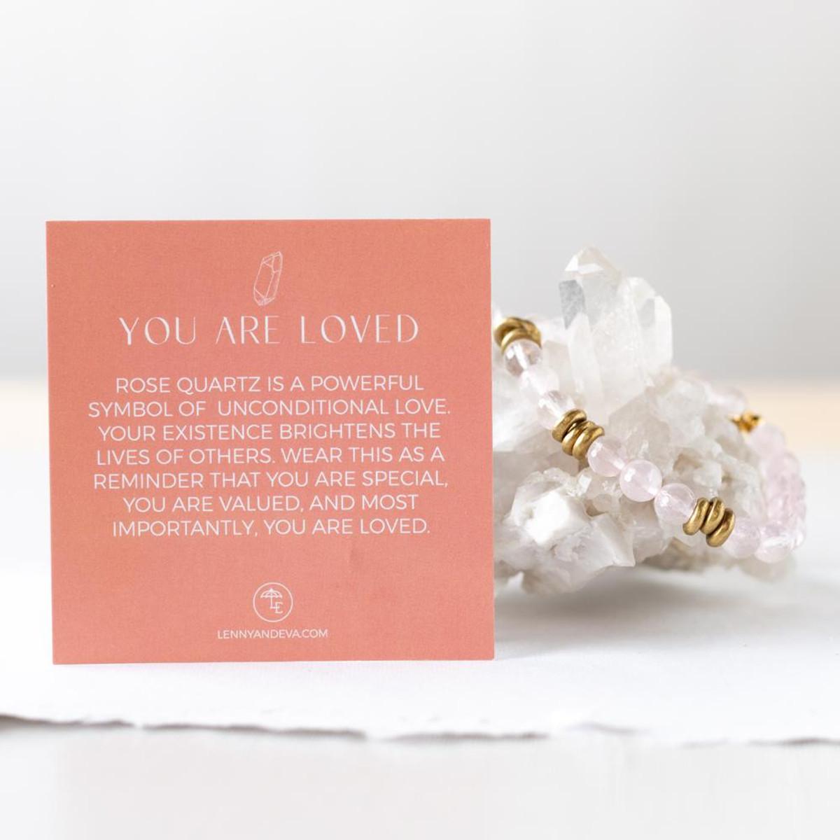 Rose Quartz Gemstone Stretch Bracelets | 8mm