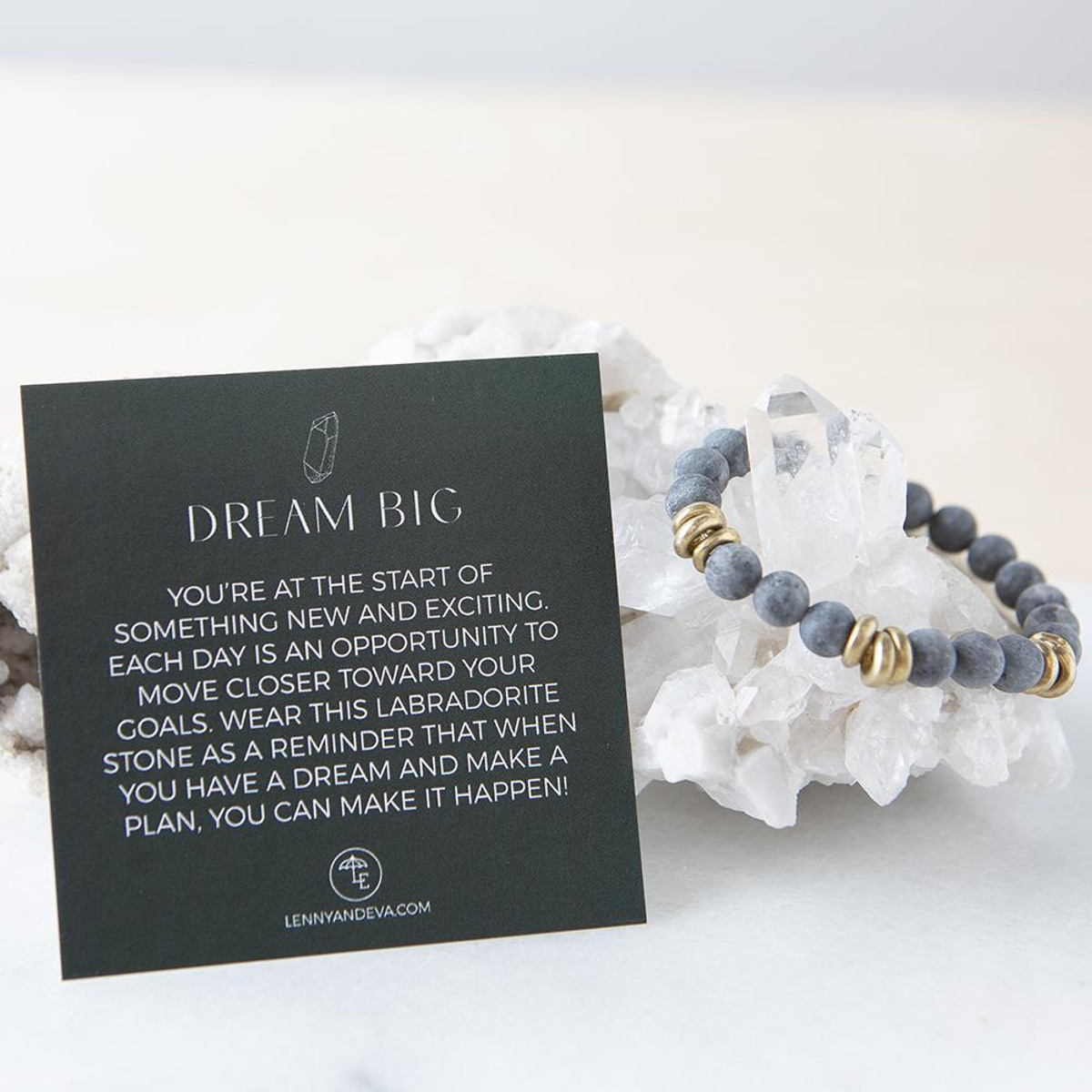 Labradorite Gemstone Stretch Bracelets   8mm