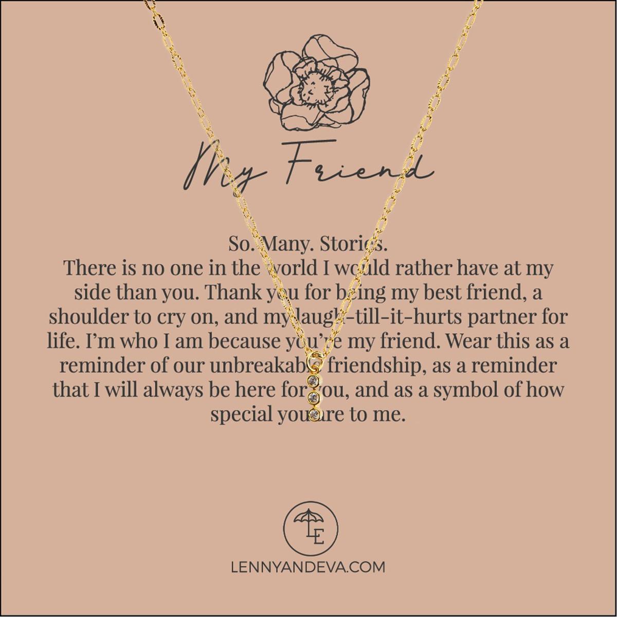 Tri-Stone Friend Necklace