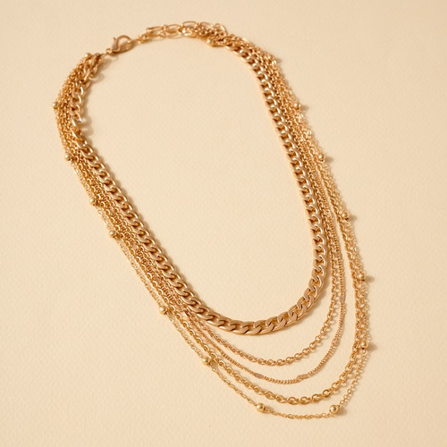 CHAIN LINKED LAYERED NECKLACE