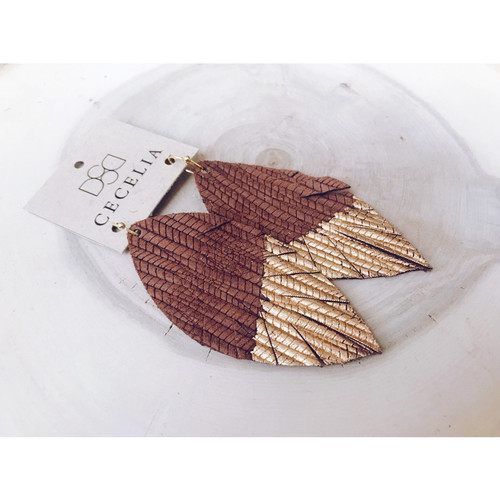 P98 CECELIA PAINTED FEATHER EARRING