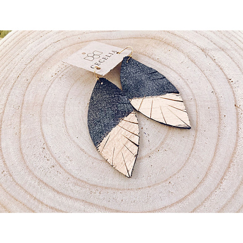 P81 CECELIA PAINTED FEATHER EARRING