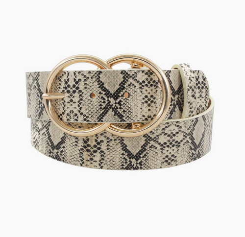BELT DOUBLE RING THICK SNAKE