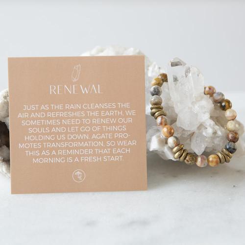 Mexican Agate Gemstone Stretch Bracelets | 8mm