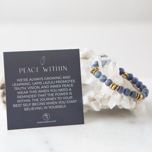 Lapis Lazuli Gemstone Stretch Bracelets | 8mm
