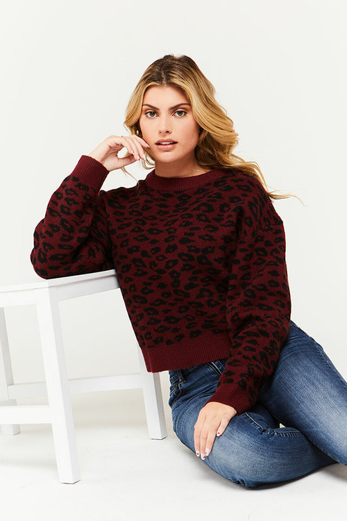 VICTORY LEOPARD SWEATER