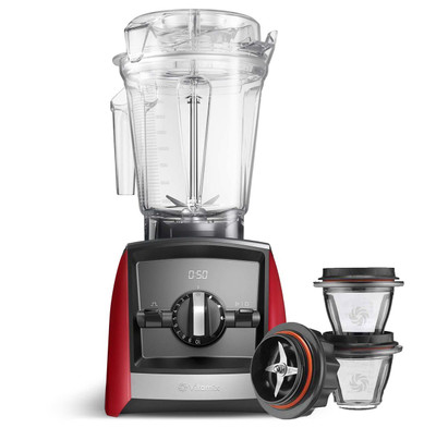 Vitamix Ascent 2500i Series Blender in Red with 225ml Blending Bowl Starter Kit