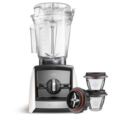 Vitamix Ascent 2500i Series Blender in White with 225ml Blending Bowl Starter Kit