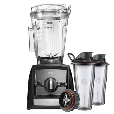 Vitamix Ascent 2500i Series Blender in Black with 600ml Blending Cup Starter Kit