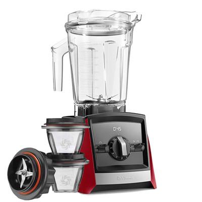 Vitamix Ascent 2300i Series Blender In Red with 225ml Blending Bowl Starter Kit
