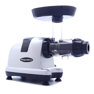 Omega 8007 Slow Juicer and Nutrition Center in Silver