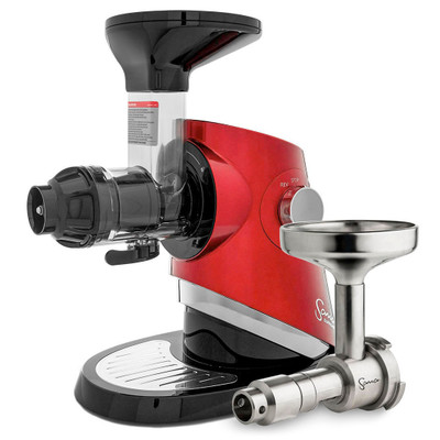 Sana Supreme 727 Horizontal Slow Juicer in Red with Oil Extractor