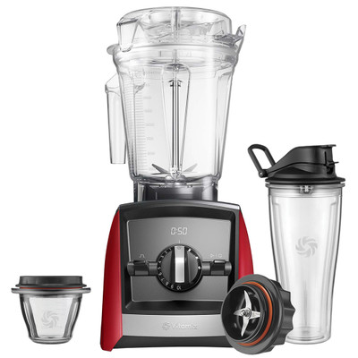 Vitamix Ascent 2500i Blender in Red with 225ml Bowl & 600ml Cup Starter Kit