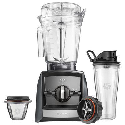 Vitamix Ascent 2300i Blender in Grey with 225ml Bowl & 600ml Cup Starter Kit