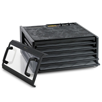 Excalibur 5 Tray Dehydrator Timer Black Clear Door