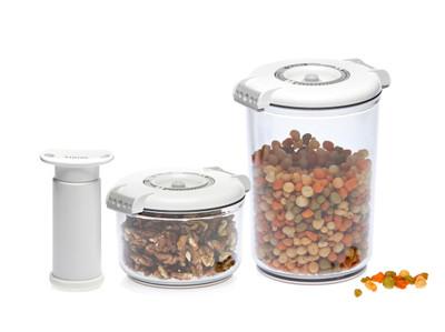STATUS 5-Set of Round Vacuum Containers
