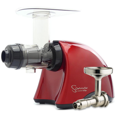 Omega Sana EUJ-707R Juicer in Red with Oil Extractor