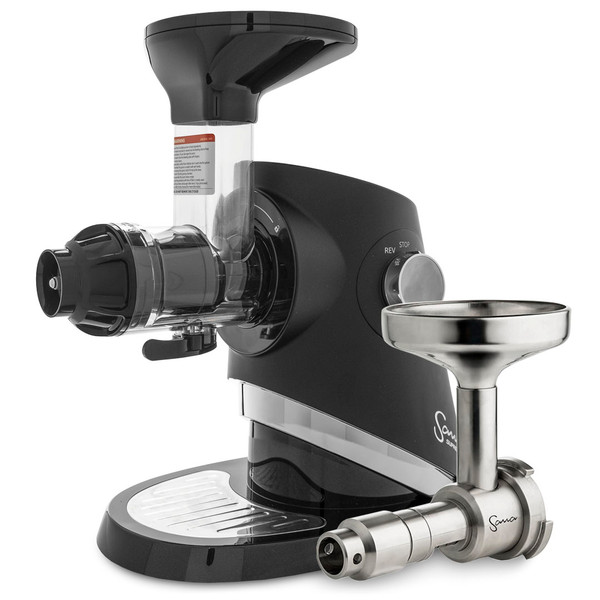 Sana Supreme 727 Horizontal Slow Juicer in Black with Oil Extractor