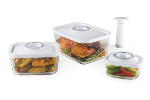STATUS 4-Set of Glass Vacuum Containers