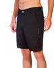 Black Slim Stretch Cotton Walkshorts
