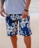 Island Floral Men's Boardshort on Beach