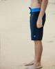 "Mana 21"" Stretch Boardshort Black with Blue Side"