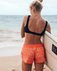 "Coral Palm 2.5"" Women's Boardshort Back"