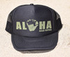 Aloha Shaka Trucker Hat Black Green