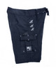 Limited Edition Fishing Shorts Black with Silver Embroidery and Pliers Pocket Model