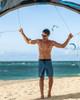 """Vintage Hawaii Leaf 19"""" Blue Boardshort Kite Surf"""
