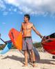 "Vintage Hawaii Leaf 19"" Men's Rust Boardshort"