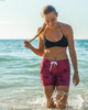 "Women's spicy mermaid 5"" boardshort for swimming, surfing, beach"