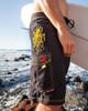Hawaiian Octo Tako Men's Black Boardshort for Surfing, Swimming, Fishing