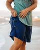 Navy Plus Size Women's Boardshort Pocket Detail
