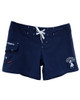 "Aloha Hula Girl Navy Women's 5"" Boardshort  for Swimming"